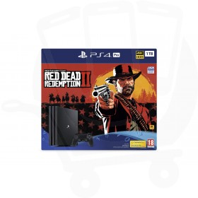 Sony PlayStation 4 Pro 1TB Console With Red Dead Redemption 2 + Additional Black Dualshock 4 Controller Promotion