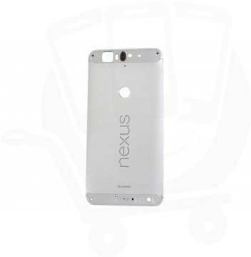 Genuine Huawei Nexus 6P Nin-A2 / Nin-A22 Silver Rear / Battery Cover with Buttons & NFC - 02350NED
