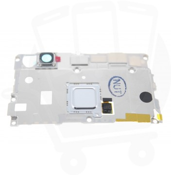 Genuine Huawei P9 Lite (VNS-L21) White Rear Top Cover With Fingerprint Sensor Flex / Camera Lens - 02350TPA