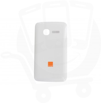 Genuine Alcatel One Touch T'Pop 4010D White Battery Cover with Orange Logo - BCJ26NAB10C0