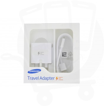 Official Samsung EP-TA20UWE 2 Amp UK Mains Charger - S6, S6 Edge, S7, S7 Edge, Note 4 - Retail Packed
