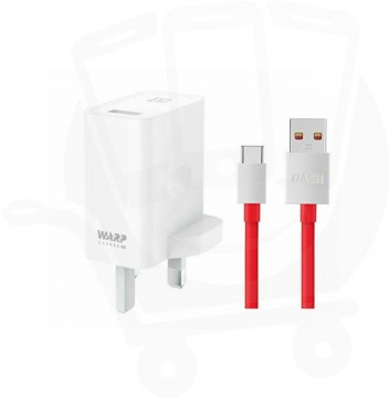 Official OnePlus Warp Charge 30 Power Adapter With Data Cable - UK