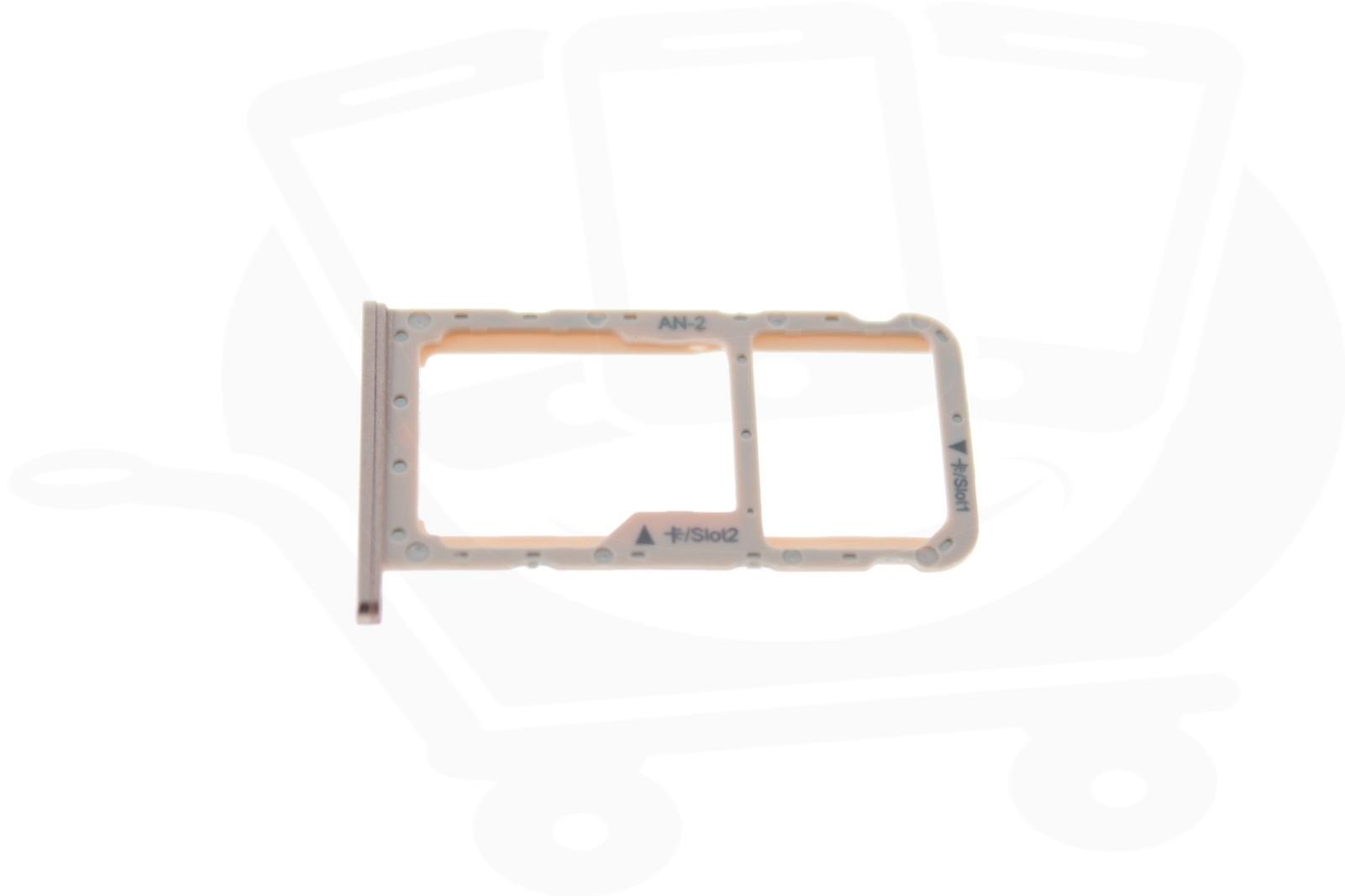 Huawei P20 Lite Sim Karte.Genuine Huawei P20 Lite Pink Sim Memory Card Tray 51661hkm