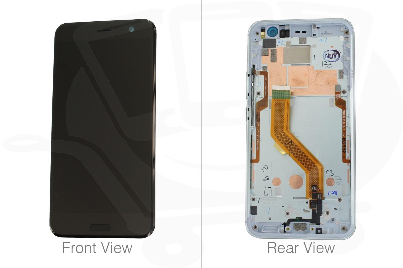 buy popular 2cde7 fb2bf Genuine HTC U11 Ice White LCD Screen & Digitizer - 80H02105-00