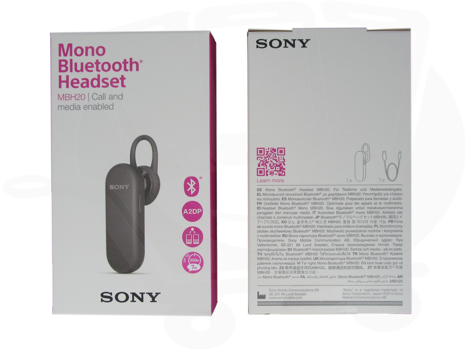 Official Sony Mbh20 Mono Bluetooth Headset Black