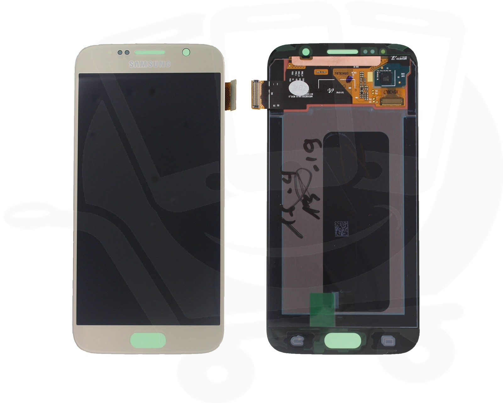 genuine samsung galaxy s6 g920 gold lcd screen amp digitizer   gh97