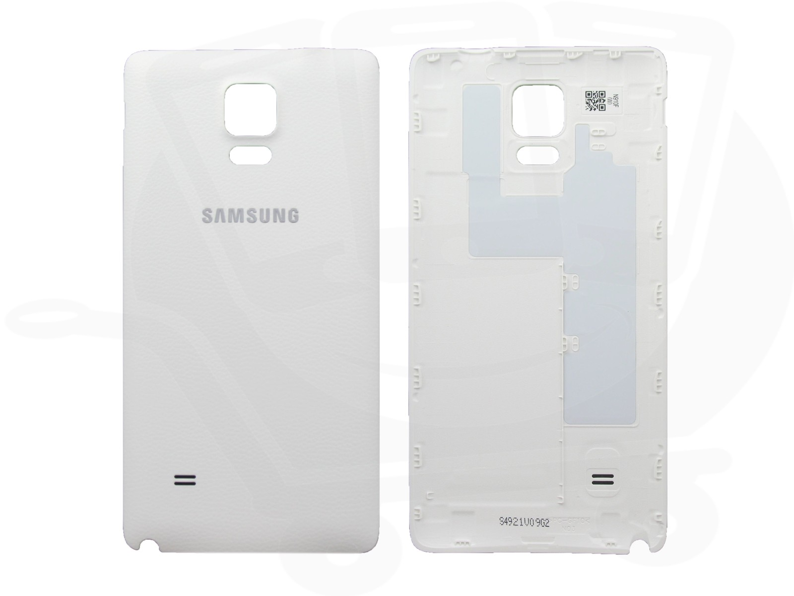 genuine samsung n910 galaxy note 4 white battery cover gh98 34209a. Black Bedroom Furniture Sets. Home Design Ideas