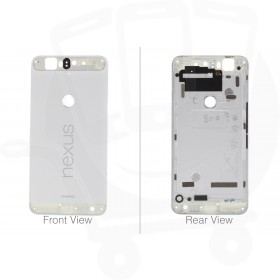 Genuine Huawei Nexus 6P Nin-A2 / Nin-A22 White Rear / Battery Cover with Buttons & NFC - 02350NEE