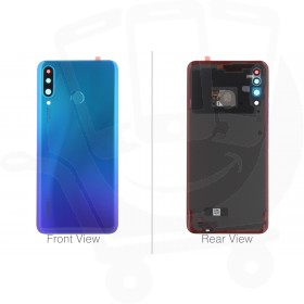 Official Huawei P30 Lite, P30 Lite New Edition Peacock Blue Battery Cover with Fingerprint Sensor - 02352RPY
