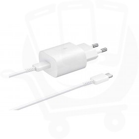 Genuine Samsung EP-TA800 25W EU USB Type C Mains Charger - White