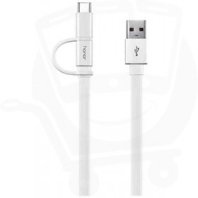 Official Huawei AP55S White 2 in 1 Type C & Micro USB Fast Charge Data Cable