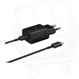Genuine Samsung EP-TA800 25W EU USB Type C Mains Charger - Black
