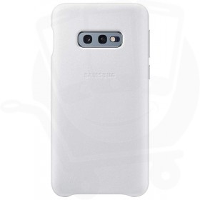 Official Samsung Galaxy S10e White Leather Protective Cover / Case - EF-VG970LWEGWW