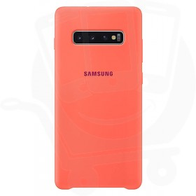 Official Samsung Galaxy S10 Berry Pink Silicone Cover / Case - EF-PG973THEGWW