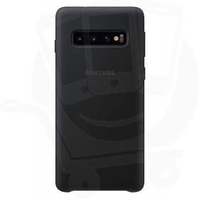 Official Samsung Galaxy S10 Black Silicone Cover / Case - EF-PG973TBEGWW