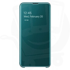 Official Samsung Galaxy S10e Green Clear View Cover  / Case - EF-ZG970CGEGWW