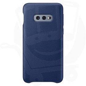 Official Samsung Galaxy S10e Navy Leather Protective Cover / Case - EF-VG970LNEGWW