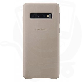 Official Samsung Galaxy S10 Grey Leather Protective Cover / Case - EF-VG973LJEGWW