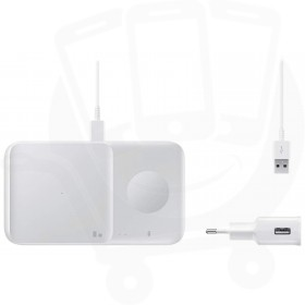 Official Samsung Duo 2 9W White Wireless Charging Pad & Plug - EU
