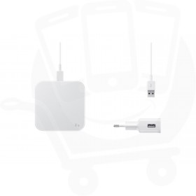 Official Samsung EP-P1300 White Qi Wireless Charger Pad with Mains Charger - EU