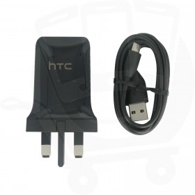 Official HTC TC P900 7.5W Black USB Adapter & DC M600 Data Cable - UK