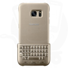 Official Samsung S7 Gold Bluetooth Keyboard Cover - EJ-CG930UFEGGB