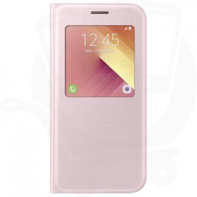 Official Samsung Galaxy A5 2017 SM-A520 Pink S View Flip Case / Cover - EF-CA520PPEGWW