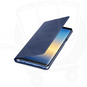 Official Samsung Galaxy Note 8 Deep Blue LED Flip Wallet / Case - EF-NN950PNEGWW
