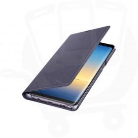 Official Samsung Galaxy Note 8 Orchid Grey LED Flip Wallet / Case - EF-NN950PVEGWW