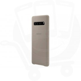 Official Samsung Galaxy S10 5G Grey Leather Protective Cover / Case - EF-VG977LJEGWW