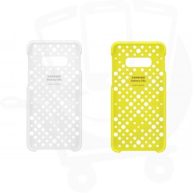 Official Samsung Galaxy S10e White / Yellow Pattern Cover  / Case - EF-XG970CWEGWW