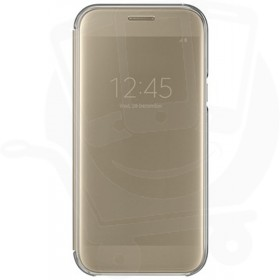 Official Samsung Galaxy A5 2017 SM-A520 Gold Clear View Cover / Case - EF-ZA520CFEGWW