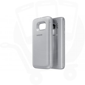 "Official Samsung S7 Silver ""Power Cover"" 5100mAH Wireless Battery Pack - EP-TG930BSEGWW"