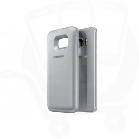 """Official Samsung S7 Edge Silver """"Power Cover"""" 10,200 mAH Wireless Battery Pack - EP-TG935BSEGWW"""