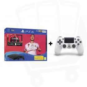 Sony PlayStation 4 Slim 500GB Console With FIFA 20 + Additional Glacier White Dualshock 4 Controller Promotion