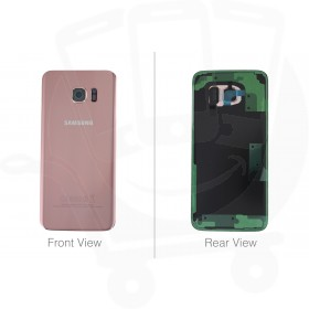 Genuine Samsung Galaxy S7 Edge G935 Pink Gold Battery Cover & Adhesive - GH82-11346E