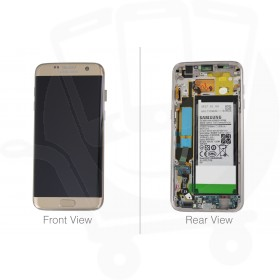 Genuine Samsung Galaxy S7 Edge G935 Gold LCD Screen & Digitizer with Battery- GH82-13390A