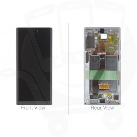 Official Samsung Galaxy Note 10+ / 10+ 5G SM-N975 SM-N976 Aura Glow / Silver LCD Screen & Digitizer - GH82-20838C