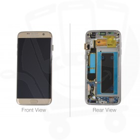 Genuine Samsung Galaxy S7 Edge G935 Gold LCD Screen & Digitizer Complete - GH97-18533C