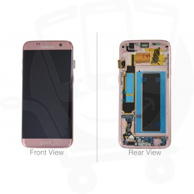 Genuine Samsung Galaxy S7 Edge G935 Pink Gold LCD Screen & Digitizer Complete - GH97-18533E
