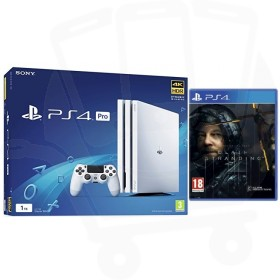 Sony PlayStation 4 Pro 1TB White Console With Death Stranding
