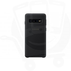 Official Samsung Galaxy S10 Plus Black Silicone Cover / Case - EF-PG975TBEGWW