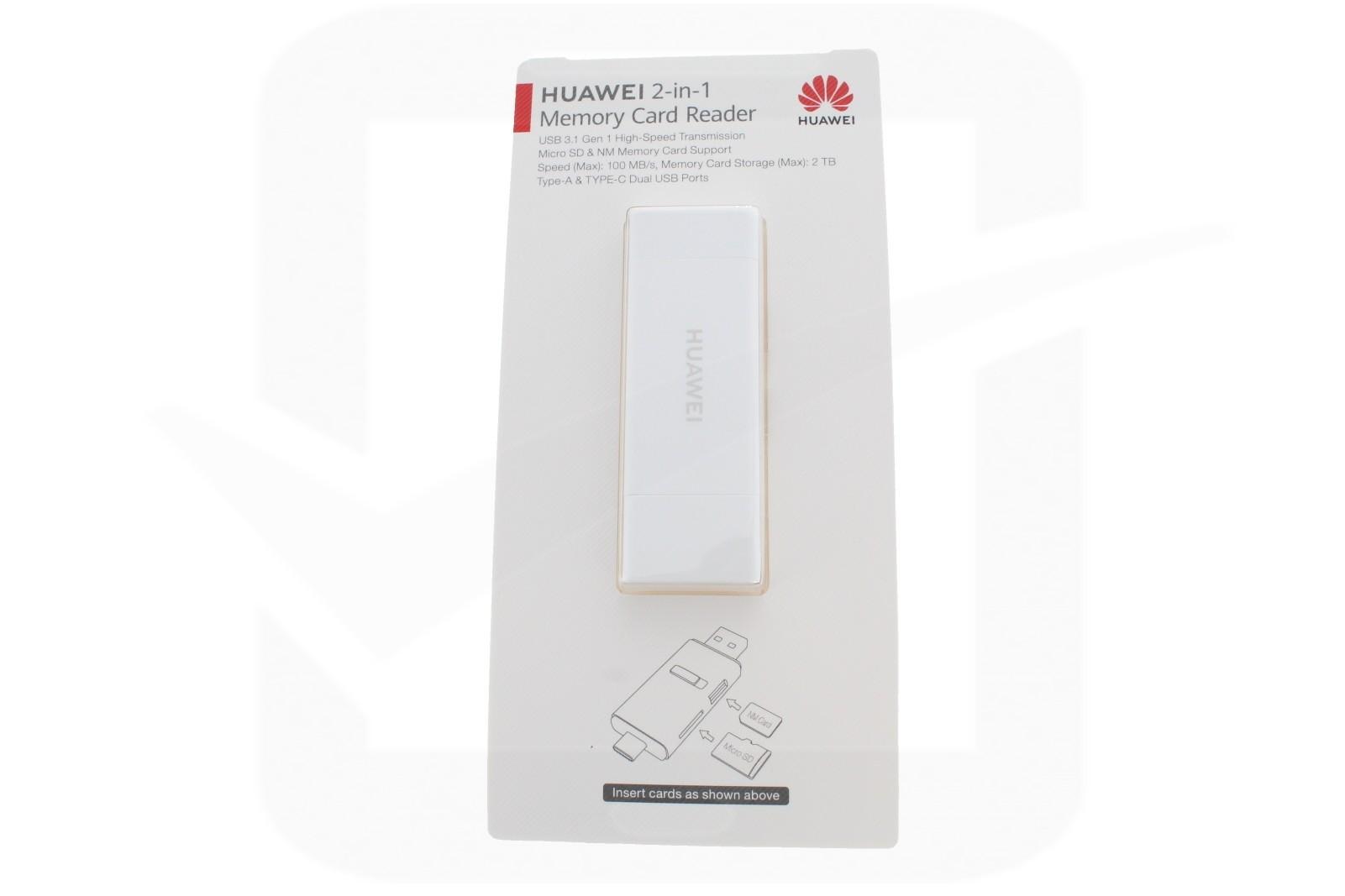 Official Huawei CF22R 2 in 1 Memory Card Reader - NM Nano Memory