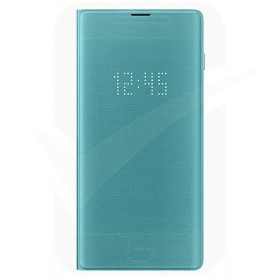 Official Samsung Galaxy S10 Plus Green LED Flip Wallet / Case - EF-NG975PGEGWW