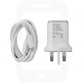 Genuine LG MCS-04UR White USB Mains Charging Adapter & Data Cable