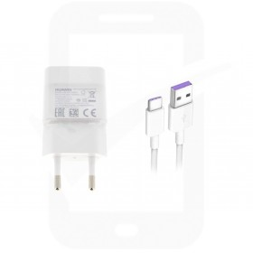 Official Huawei HW-050100E01 0.2Amp White Type C Mains Charger - EU
