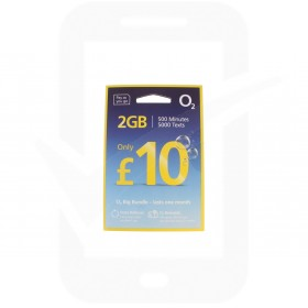 O2 £10 Big Bundle Triple Pre Pay SIM Card