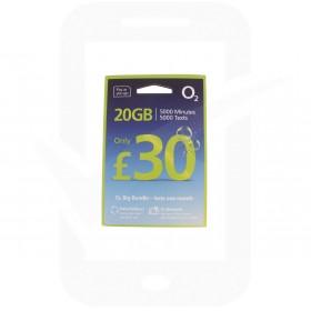 O2 £30 Big Bundle Triple Pre Pay SIM Card