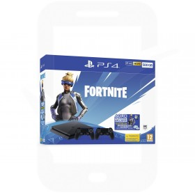 Sony PlayStation 4 Slim 500GB Console With Fortnite Neo Versa + Extra Dualshock 4 Controller