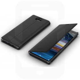 Official Sony Xperia 10 Black Style Cover Case Stand - SCSI10